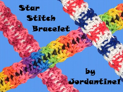 New Star Stitch Bracelet - Rubber Band Crochet - Rainbow Loom - Hook Only
