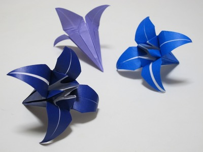 Origami - How to Make a Lily.Iris Flower - HD