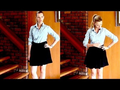 Outfit of the Day: Swingy Skirt and Preppy Shirt!