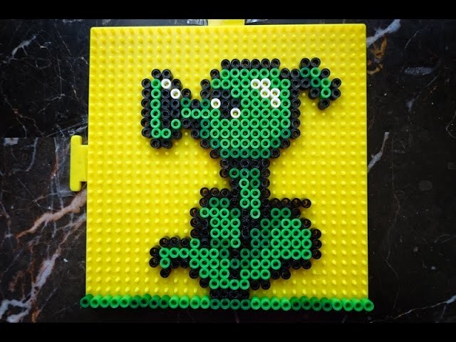 Plants Vs. Zombies Perler Bead Designs: How to make Peashooter using Perler Beads