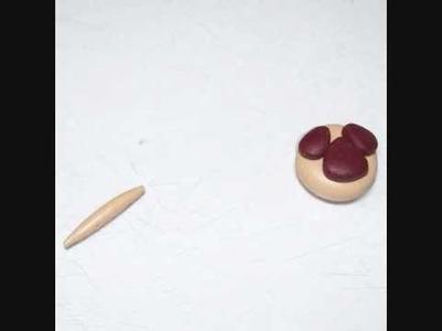 Polymer clay pug dog bead tutorial