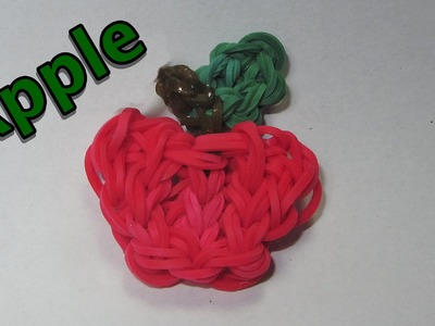 Rainbow Loom Charms: APPLE: How To Design. Tutorial (DIY Mommy)