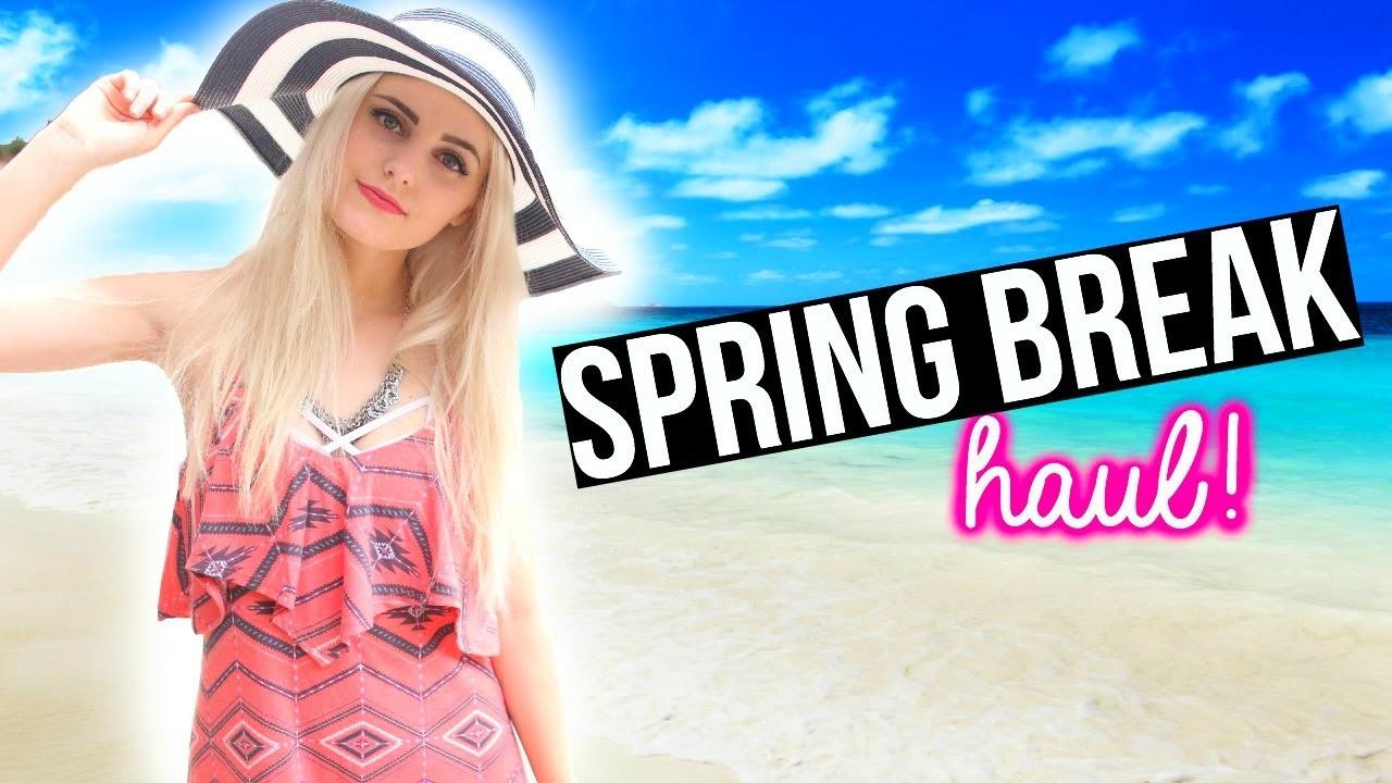Spring Break Essentials! Outfits, Makeup & More Haul! | Aspyn Ovard