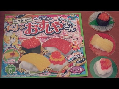 Sushi Candy Kit - How To + Taste Test - Kracie Popin' Cookin'