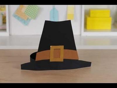 Thanksgiving Kids' Craft Pilgrim Hat