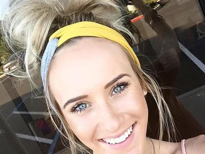 Three Bird Nest Messy Bun Hair Tutorial DIY With Twist Turband Headband