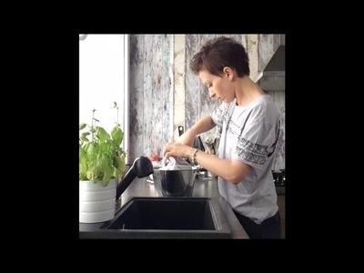 Tutorial, how to dye a pillowcase. DIY#1