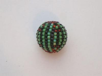 Tutorial perline (Beaded Bead): come rivestire una perla con perline 2.4 (Peyote)   Tutorial Perline