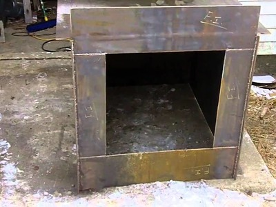 #2 DIY Outdoor Wood Burner Boiler (Hydronic Wood burning stove) free heat