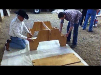 Amazing Portable Picnic Table from single sheet of plywood