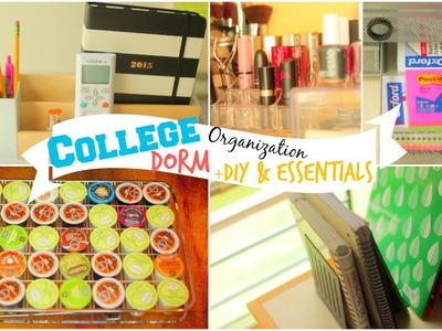 Back to School: College Dorm Room Organization Ideas + DIY & Essentials