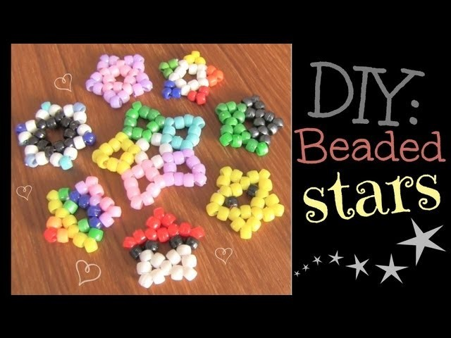 Beaded Star Charm - Kandi Pendant - How To