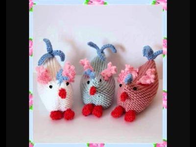 Bonnie Easter Spring Chicks Chickens Hens Baby Pram Soft Toys Aran DK Yarn Toy