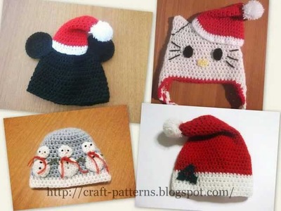 CHRISTMAS HATS Crochet Patterns