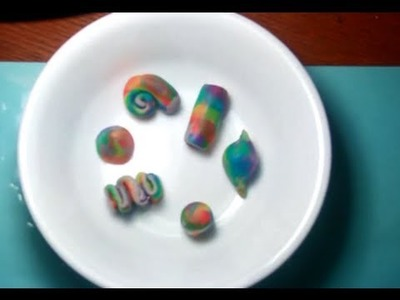 Clay Modeling - Making of a colorful beads
