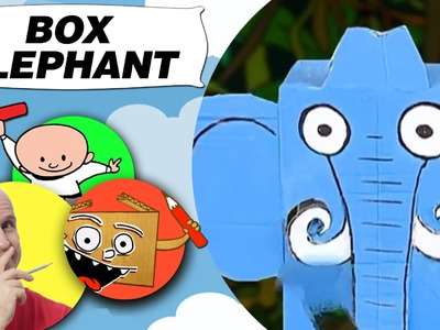 Crafts Ideas for Kids - Box Elephant | DIY on BoxYourSelf