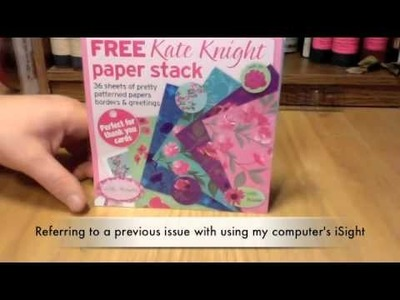 Creating a Handmade Card with a Freebie Paper Pad from a Craft Magazine