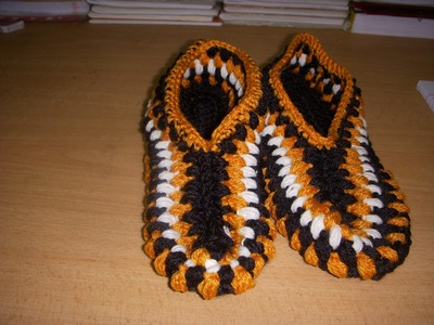 Crochet Adult Slipper Part-1