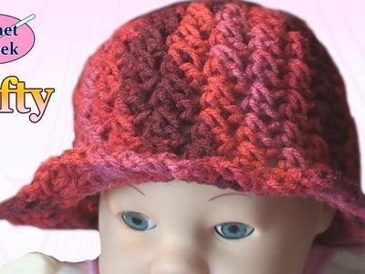 Crochet Baby Hat - Left Hand Crochet Geek