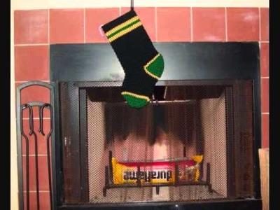 Crochet Christmas Stocking Sorority.Fraternity.Theme