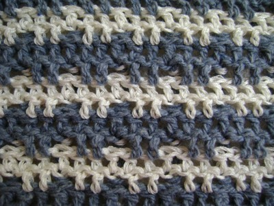 Crochet Triple or Treble Crochet + Front and Back Post Stitches