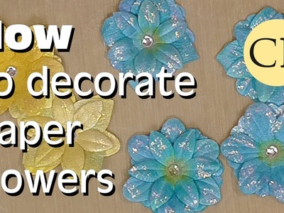 Decorating Paper Flowers with Perfect Pearls Mists