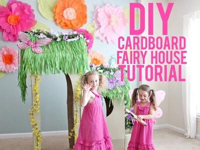 DIY Cardboard Fairy House Tutorial