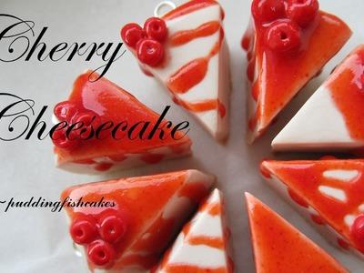 DIY Cherry Cheesecake Polymer Clay Charm Tutorial