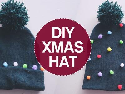✂ DIY Christmas Tree Pom Pom Hat