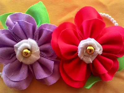 DIY craft - how to make a flower brooch patchwork