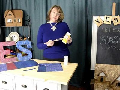 DIY: Decoupage Wall Letters