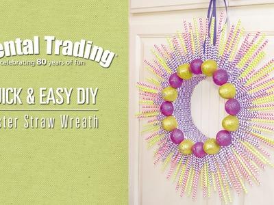 DIY Easter Paper Straw Wreath