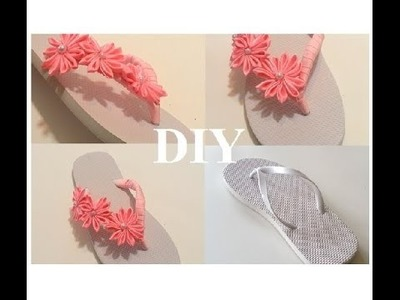 {DIY} Flips Flop w. Ribbon and Flower Accents