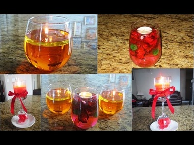 DIY Floating Candles From Water and Oil & Candle Centerpieces - Spring Decor