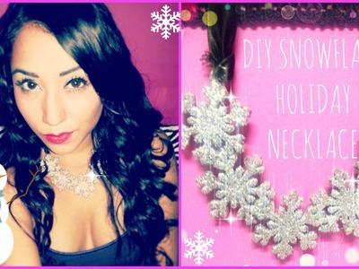 ❄ DIY Holiday Snowflake Necklace ❄