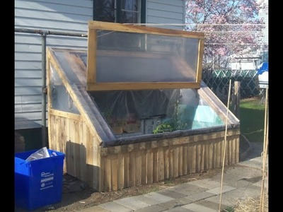 DIY: How I sided My Cold Frame Made From Pallets For FREE