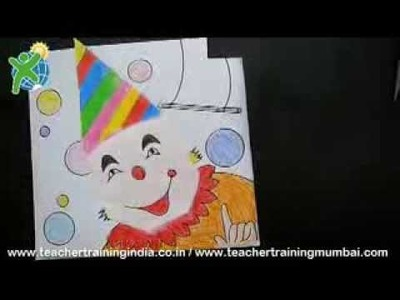 DIY -  How to make an Origami Clown