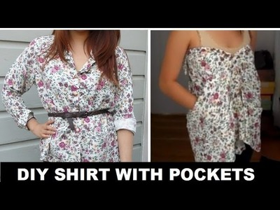 DIY: Long Sleeve to Shirt with Pockets (No Sewing)