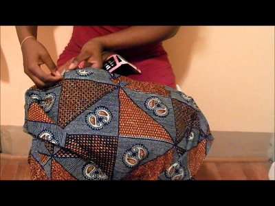 DIY: Making a old piece of clothing current. Ankara African Print Skirt