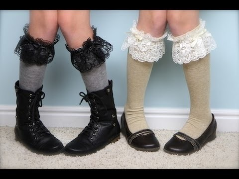 DIY: No-Sew Lace Knee Socks | Easy Fashion Ideas | ShowMeCute