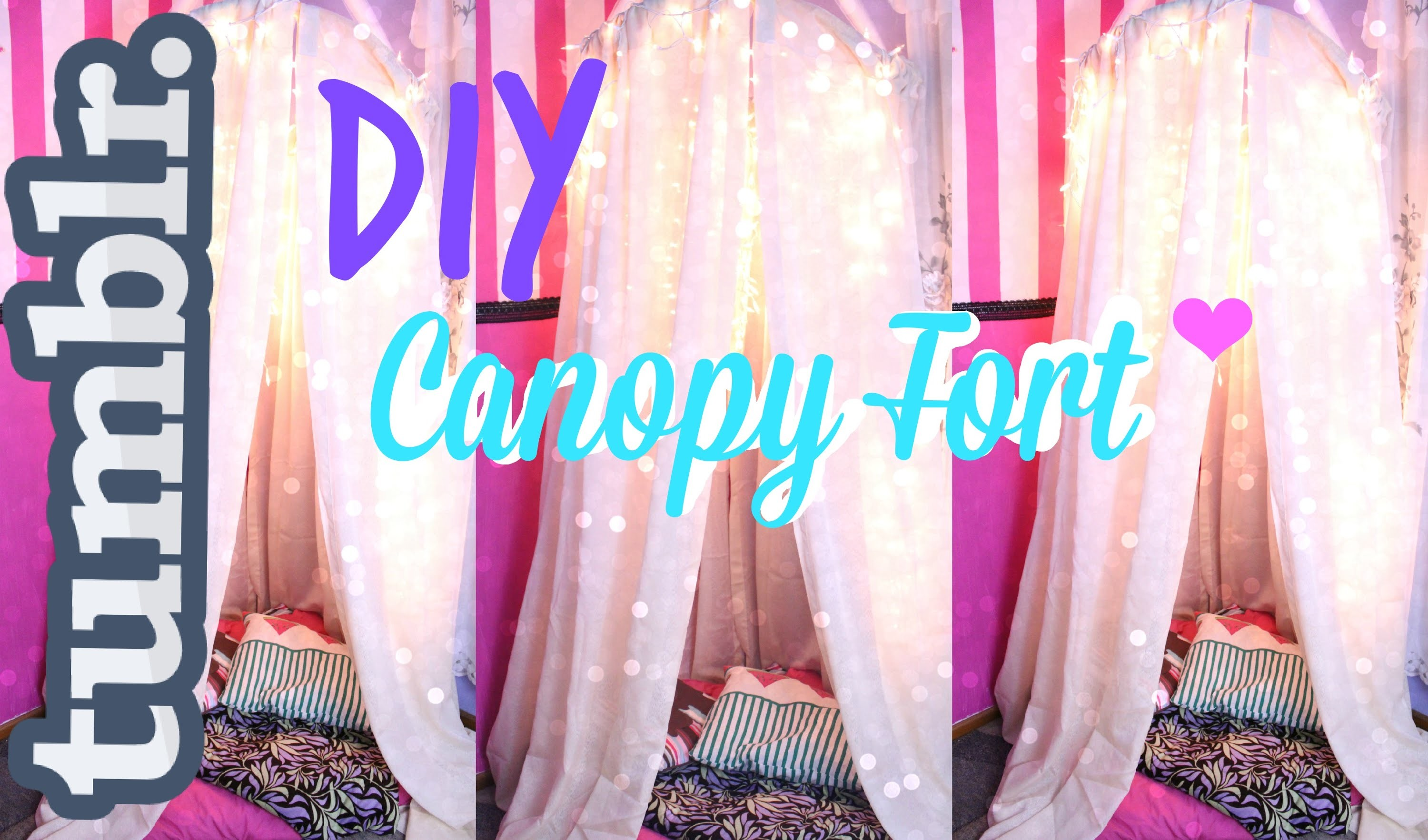 DIY Tumblr Inspired Canopy.Fort