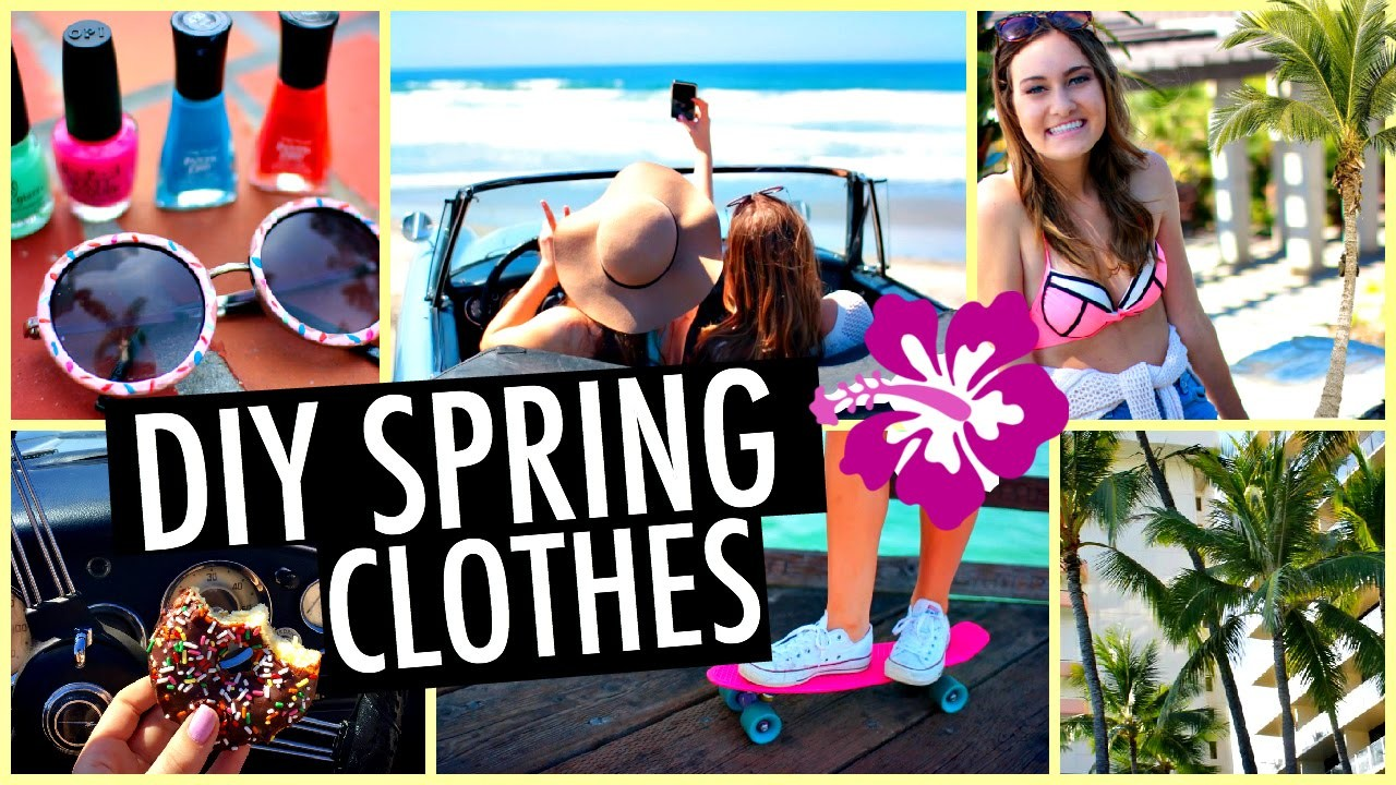DIY Tumblr Spring Clothes! Easy Swimsuits, T Shirts & Sunglasses