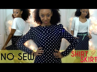 DIY Turn a Shirt into a Skirt w. pockets | SugarStilettosStyle