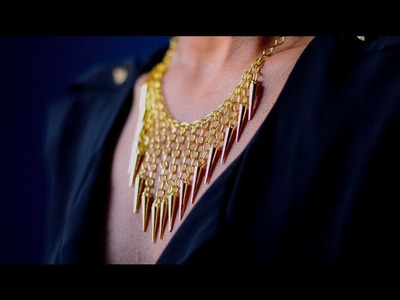 DIY Waterfall Spike Necklace | Collaboration + $200 Giveaway