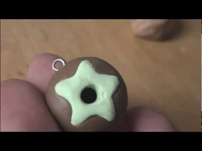 DOUGHNUT - Polymer Clay Charm - How To - SoCraftastic