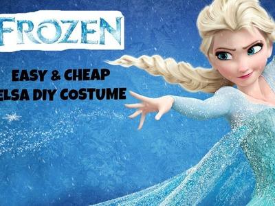 Easy Halloween DIY Elsa Frozen Costume