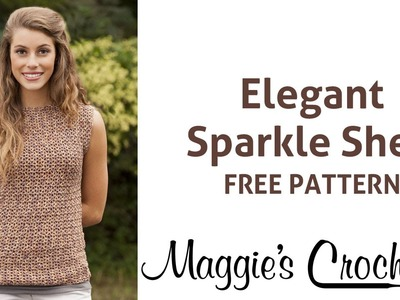 Elegant Sparkle Shell Free Crochet Pattern - Right Handed