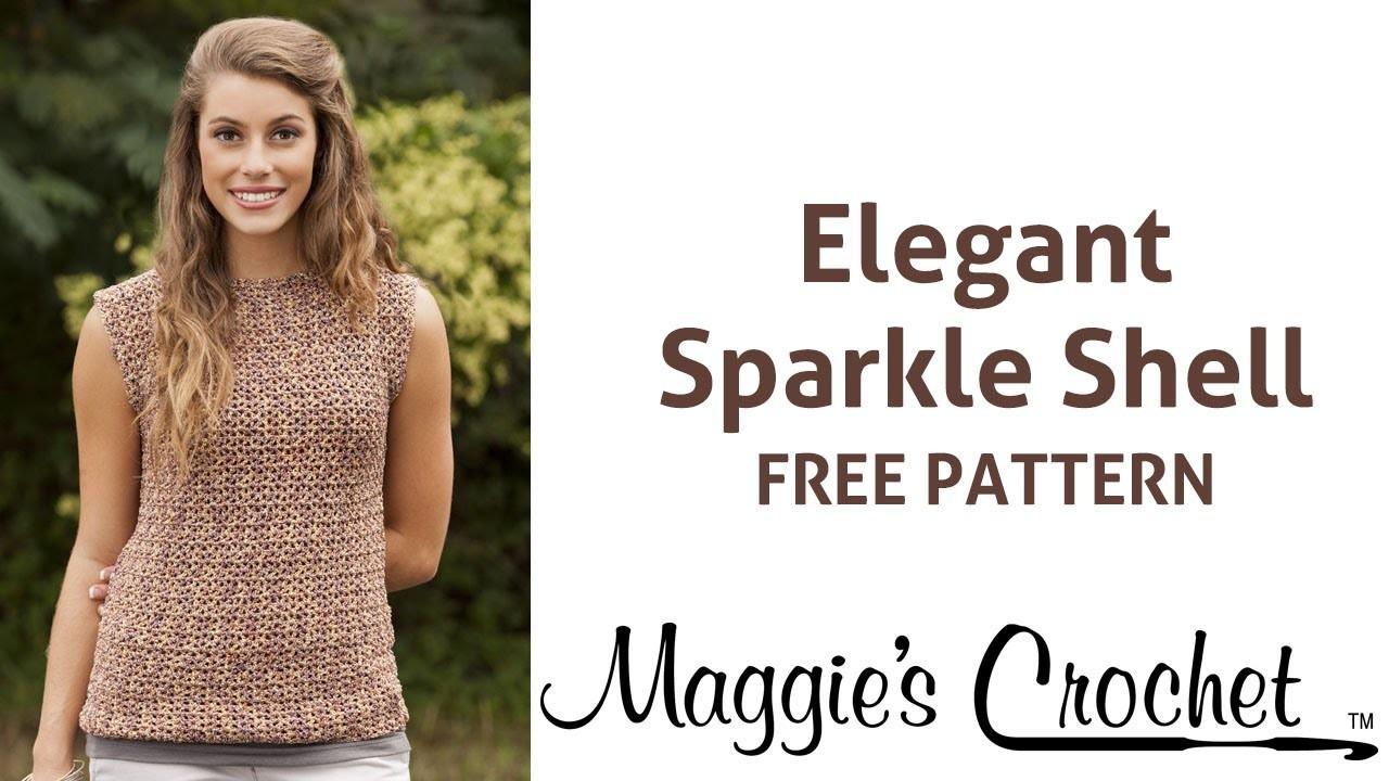 Elegant Sparkle Shell Free Crochet Pattern - Right Handed