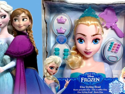 FROZEN  Elsa Styling Head How To Comb Elsa's Hair DIY Hairbrush Hairstyle Dolls Elsa's French Braid
