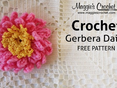 Gerbera Daisy Free Crochet Pattern - Right Handed